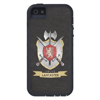 Negro del escudo de la batalla de Sigil del león iPhone 5 Funda
