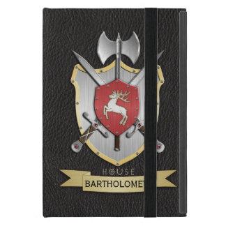 Negro del escudo de la batalla de Sigil del macho iPad Mini Fundas