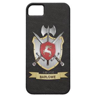 Negro del escudo de la batalla de Sigil del macho iPhone 5 Funda
