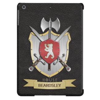 Negro del escudo de la batalla de Sigil del oso Funda Para iPad Air
