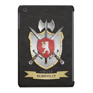 Negro del escudo de la batalla de Sigil del oso Funda De iPad Mini