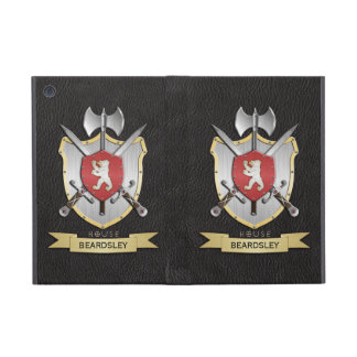 Negro del escudo de la batalla de Sigil del oso iPad Mini Cárcasas