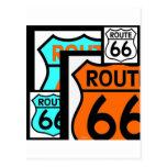 Negro del escudo de la mezcla de la ruta 66 tarjeta postal
