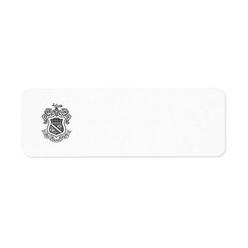 Negro del escudo de PKP Etiqueta De Remite