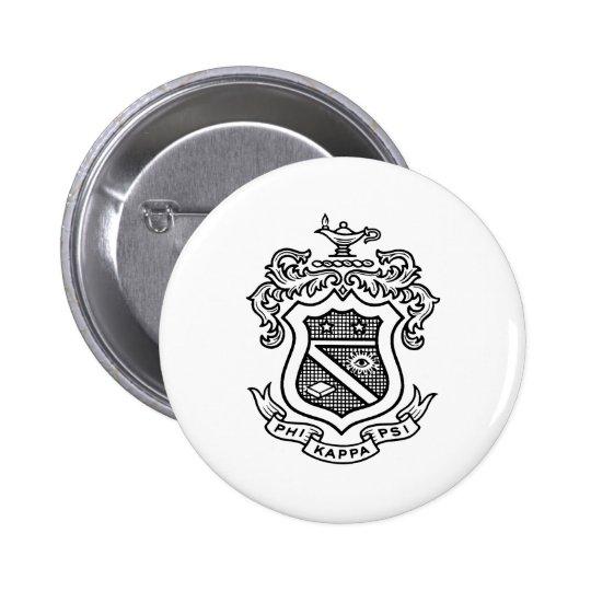 Negro del escudo de PKP Pin Redondo De 2 Pulgadas
