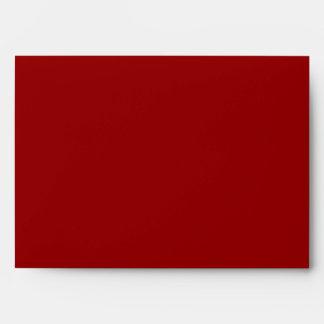 negro del exterior del rojo carmesí del sobre 5x7