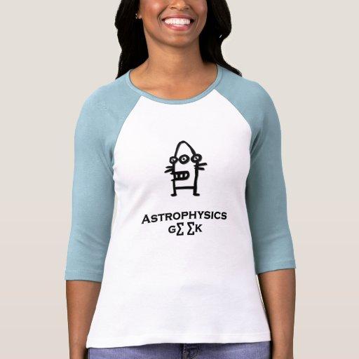 Negro del friki de la astrofísica del Bot de tres  Camisetas