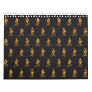 negro del fuego calendarios de pared
