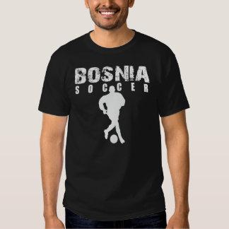 Negro del fútbol de Bosnia Remeras