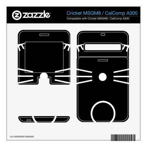 Negro del gato de O Calcomanías Para Cricket MSGM8