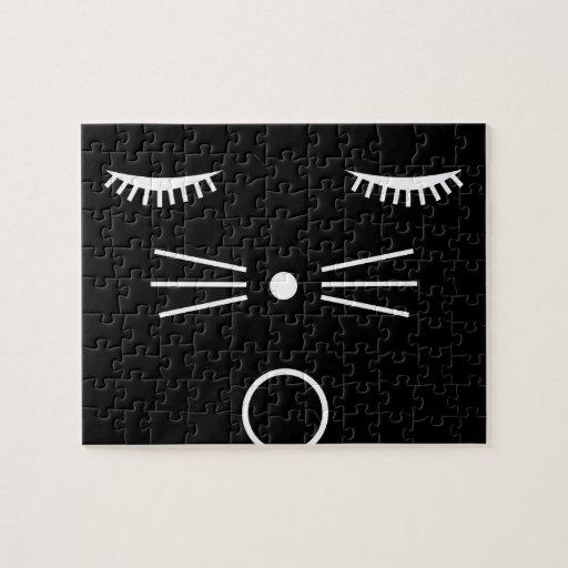 Negro del gato de O Rompecabeza Con Fotos