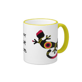 negro del gecko del estallido tazas de café