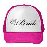 Negro del gorra del camionero de la novia del diam