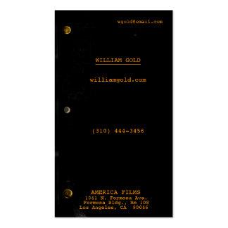 Negro del guión tarjetas de visita