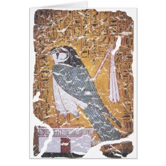 Negro del halcón tarjeta de felicitación
