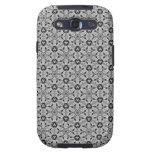 Negro del hexágono de Geo + Caso de plata del SII  Galaxy S3 Coberturas