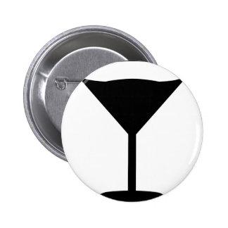 negro del icono del cóctel del fiesta pin