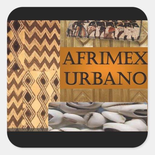 Negro del imán de la serie de la firma de AfriMex Pegatinas Cuadradases Personalizadas