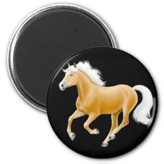 Negro del imán del caballo del Palomino de Hafling