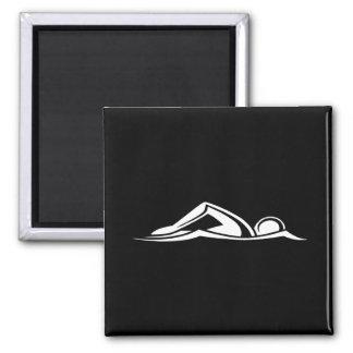 Negro del imán del logotipo de la nadada