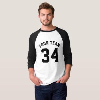 Negro del jersey de los deportes del personalizado