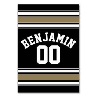 Negro del jersey de los deportes y número conocido