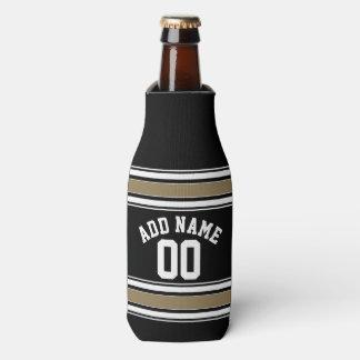 Negro del jersey de los deportes y número conocido enfriador de botellas