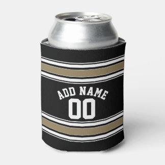 Negro del jersey de los deportes y número conocido enfriador de latas