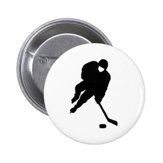 negro del jugador de hockey pin