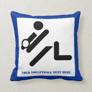 Negro del jugador de voleibol, blanco, almohada