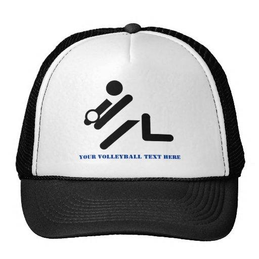 Negro del jugador de voleibol, blanco, personaliza gorra