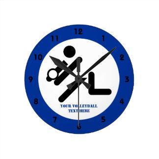 Negro del jugador de voleibol, blanco, relojes