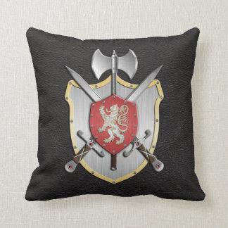 Negro del león del escudo de la batalla almohada