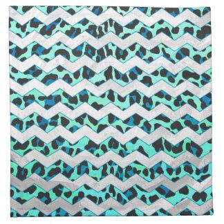 Negro del leopardo e impresión del trullo servilletas de papel
