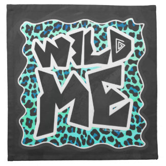 Negro del leopardo e impresión del trullo servilleta de papel