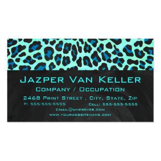 Negro del leopardo e impresión del trullo plantilla de tarjeta de negocio