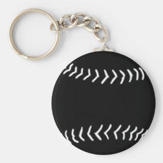 Negro del llavero de la silueta del softball