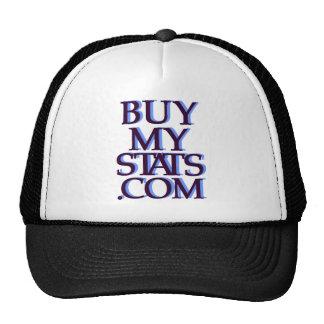 negro del logotipo de BuyMyStats.com 3D con la som Gorras