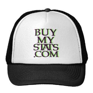 negro del logotipo de BuyMyStats.com 3D con la som Gorro De Camionero