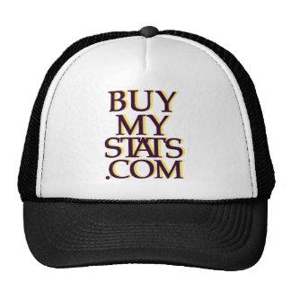 negro del logotipo de BuyMyStats.com 3D con la som Gorros