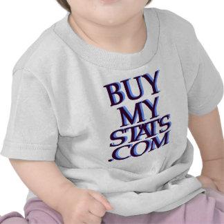 negro del logotipo de BuyMyStats.com 3D con la som Camisetas