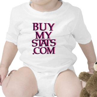 negro del logotipo de BuyMyStats.com 3D con la som Traje De Bebé