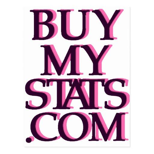 negro del logotipo de BuyMyStats.com 3D con la Tarjetas Postales