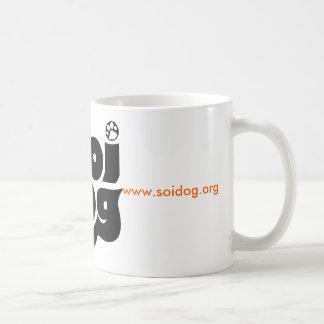 Negro del logotipo de la fundación del perro de taza clásica