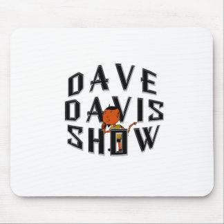 Negro del logotipo de la mascota de Dave Alfombrillas De Raton