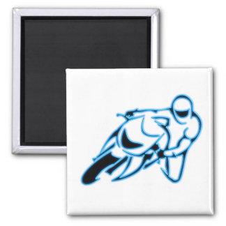 Negro del logotipo de la motocicleta con las imán cuadrado