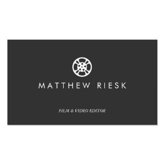 Negro del logotipo, de la película y del editor de tarjetas de visita