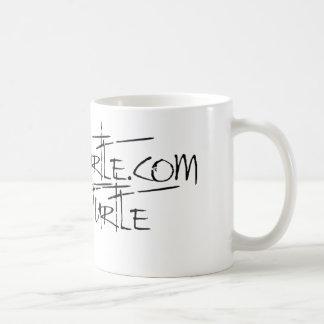 Negro del logotipo de la pintada del tecleo taza de café