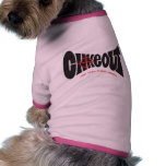 negro del logotipo del chokeout camisa de mascota