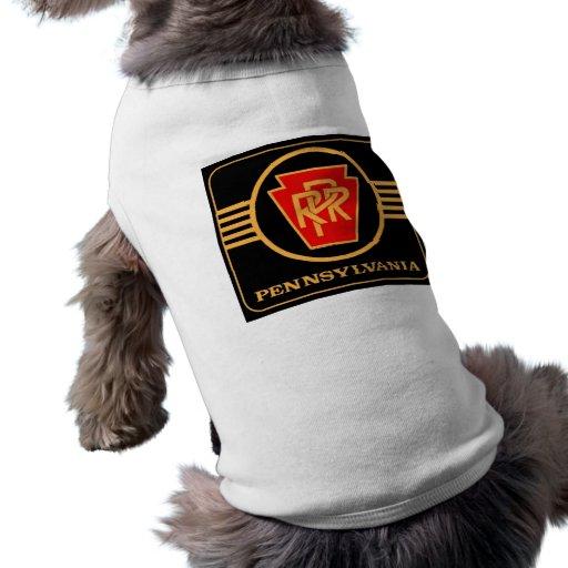 Negro del logotipo del ferrocarril de Pennsylvania Camisetas Mascota